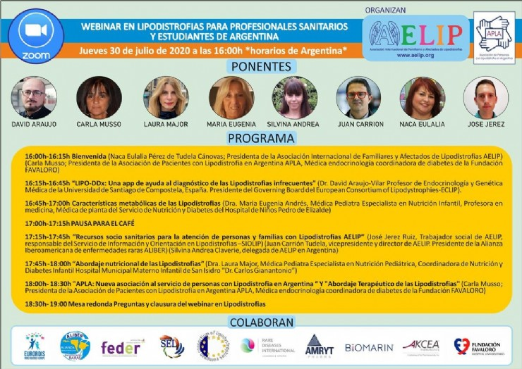 A new training webinar in Lipodystrophies will welcome health professionals and students from Argentina