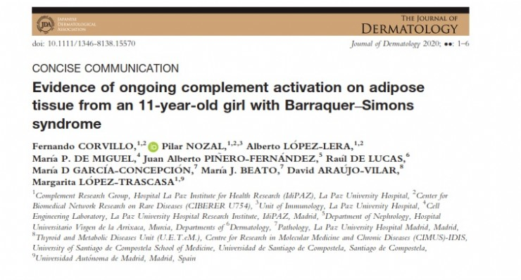 Evidence of ongoing complement activation on adipose tissue from an 11-year-old girl with Barraquer–Simons syndrome