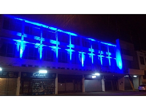 The Distinguished Municipality of La Unión, Chile, Lit up in Turquoise-Blue in Support of World Lipodystrophy Day