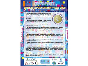 AELIP commemorates the WORLD LIPODYSTROPHY DAY by claiming the Decalogue of priority needs for people and families living with Infrequent Lipodystrophy