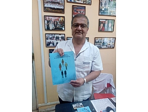 AELIP Submits a Copy of the Practical Guide for the Diagnosis and Treatment of Rare Lipodystrophies to the Head of the Endocrinology Department at the National Institute of Child Health in Lima (Peru), Carlos Manuel del Águila