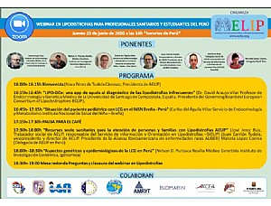 AELIP will conduct a training webinar on Lipodystrophies for health professionals and students in Peru