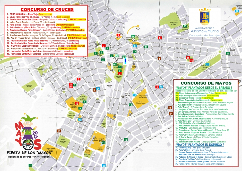 Plano de Cruces y Mayos 2017