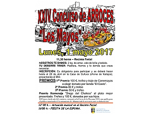 XXIV Concurso de Arroces - Los Mayos 2017