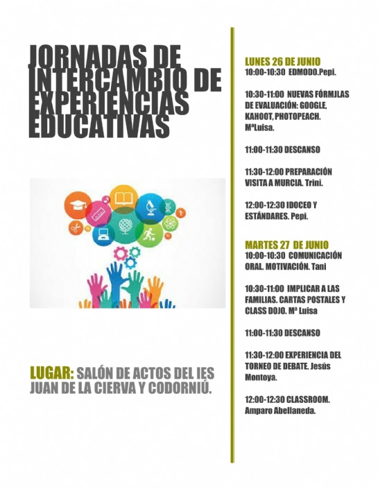 Jornadas de intercambio de experiencias educativas