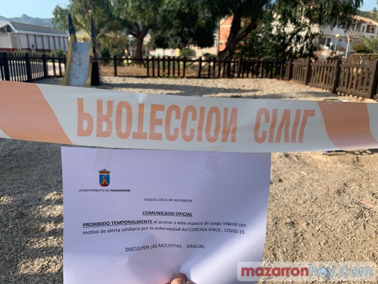 Mazarrón closes parks and gardens, and limits weekly markets