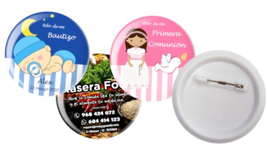 Chapas alfiler 58MM