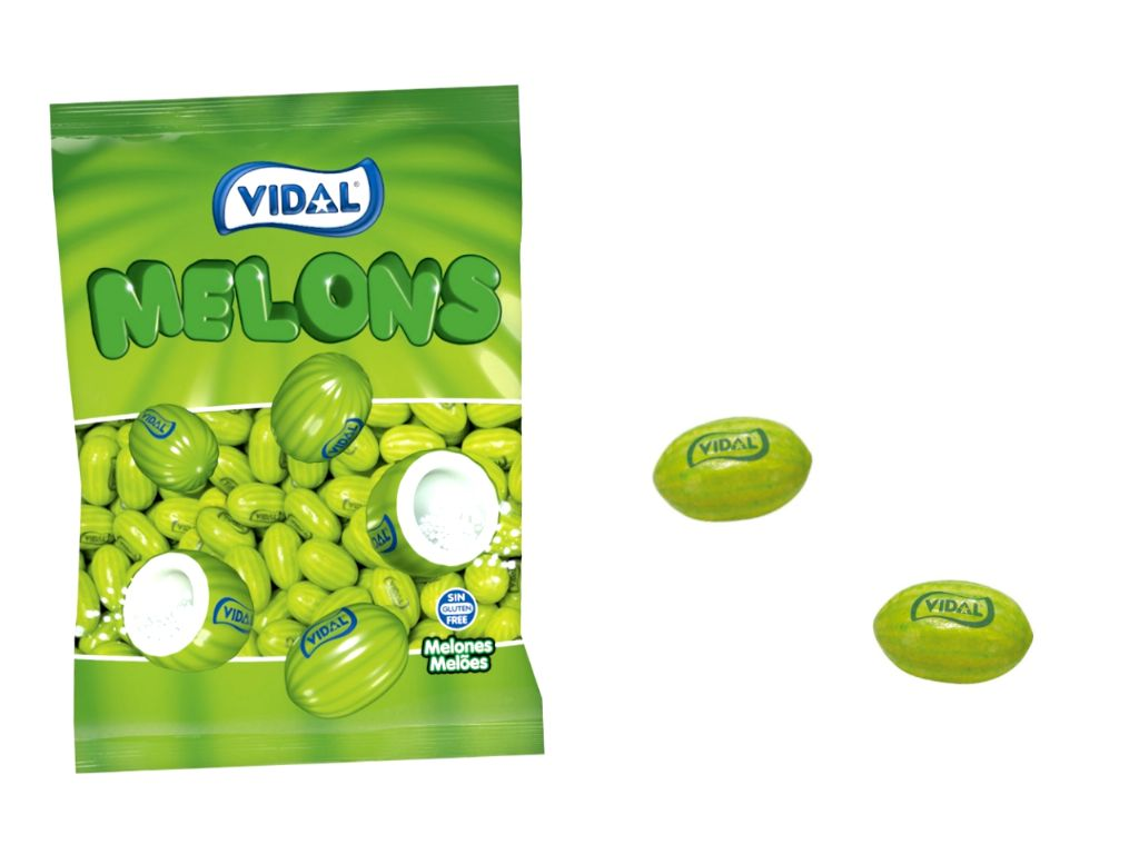 Melones chicles Vidal (250 unds.)