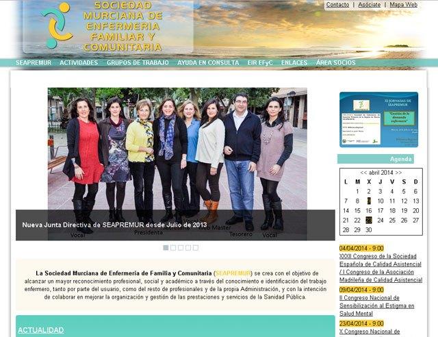 La Sociedad Murciana de Enfermería de Familia y Comunitaria (SEAPREMUR) renueva su web