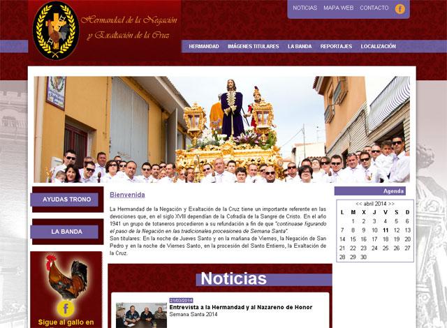 La Hermandad de la Negación y Exaltación de la Cruz ha lanzado su nueva página web