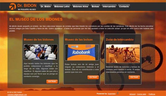 Descubre la colección de bidones de Dr. Bidón en su nueva web