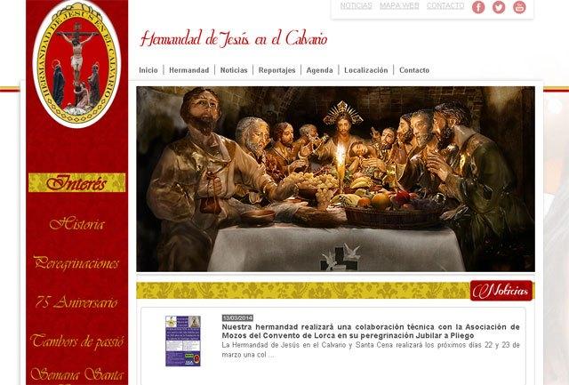 La Hermandad de Jesús en el Calvario y Santa Cena estrena web