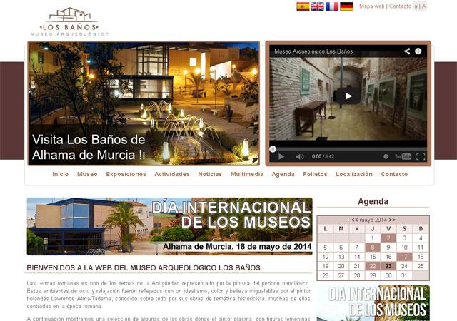 El Museo Arqueológico Los Baños estrena página web con motivo del Día Internacional de los Museos